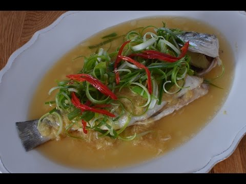 FISH - STEAMED FISH IN GINGER SAUCE  MALAYSIAN HAWKER SPECIAL
