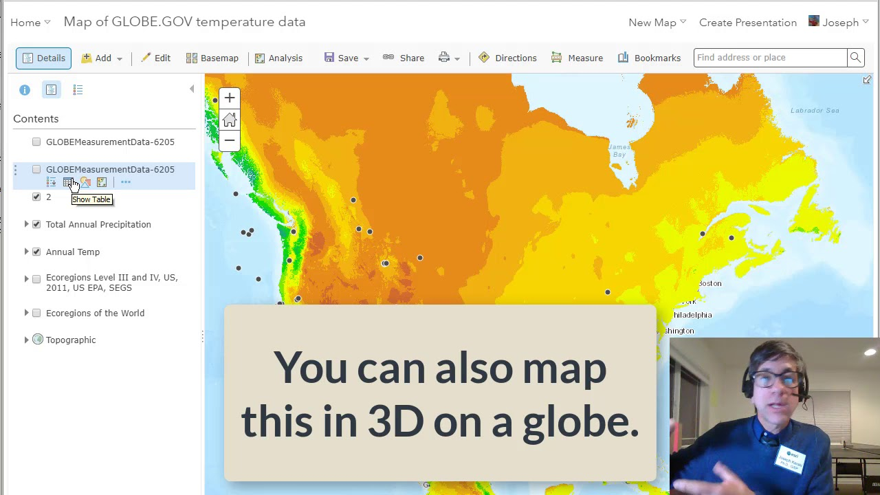 How to import map and analyze globe data in arcgis online youtube how to import map and analyze globe data in arcgis online gumiabroncs Gallery