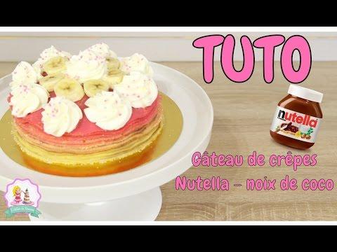 ♡•-recette-gateau-de-crepes-nutella-banane-chantilly-et-noix-de-coco-•♡