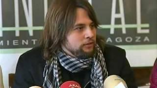 Rueda de prensa en Zaragoza