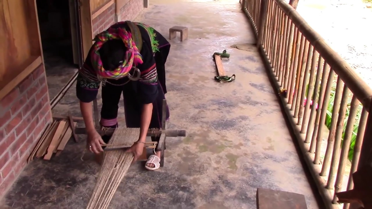 Hmong Weaving hemp fabric