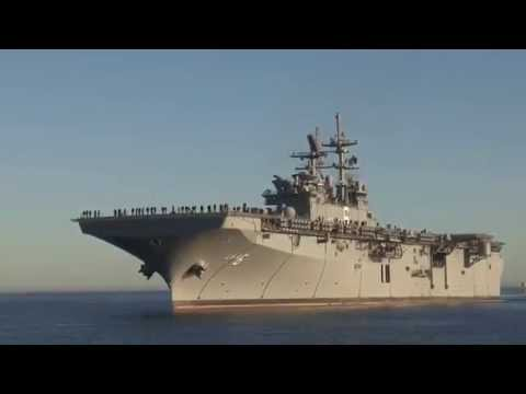 US Navy's New Amphibious Assault Ship - USS America Returns to Ingalls Shipyard!
