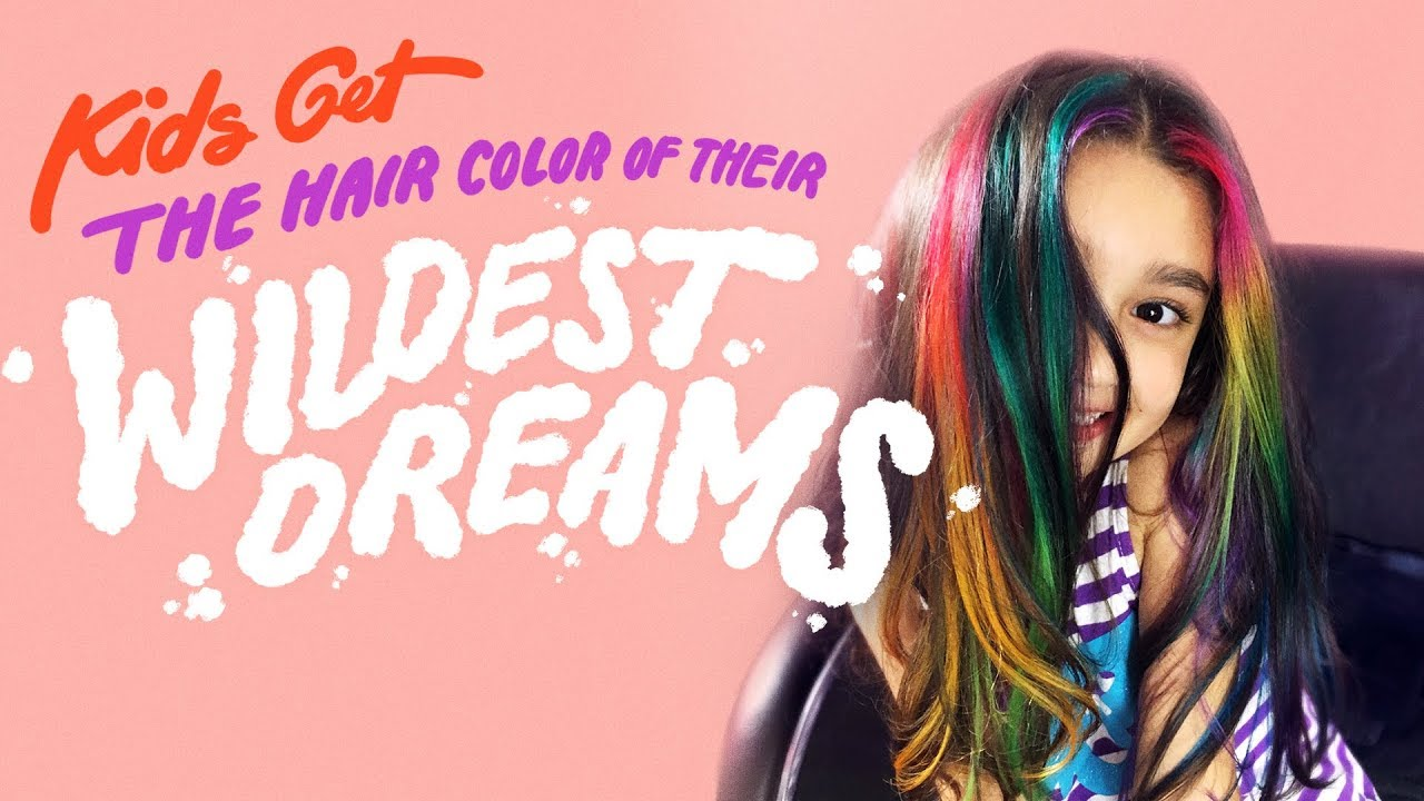 Kids Get The Hair Color Of Their Wildest Dreams