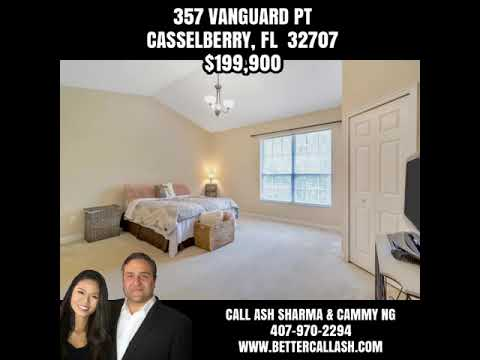357 Vanguard Pt Casselberry, FL  32707 $199,900