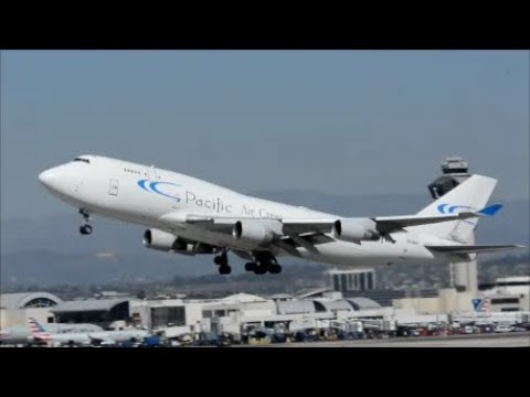 ****PACIFIC  AIR   747 cargo ***Taking off  From LAX