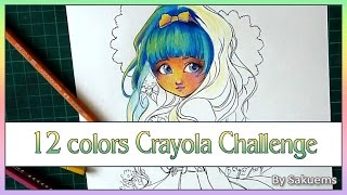 12 cheap colored pencil challenge ✬ By Sakuems ✬ Art talk Cheap VS High end tools