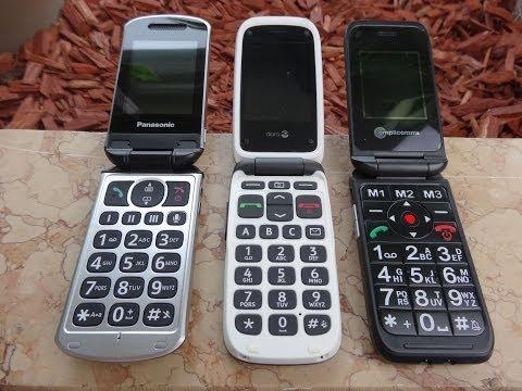 """PANASONIC 327 / DORO PHONEEASY 612 / AMPLICOMMS POWERTEL M6900"" -Info über die Seniorenhandys"