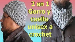 Gorro a crochet /  Ganchillo para hombre / fácil de tejer /  Easy Crochet Ribbed Hat