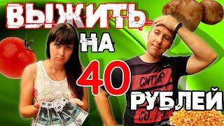 40 рублей на ДВОИХ  Можно ли выжить ВЕСЬ ДЕНЬ