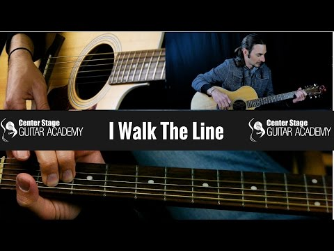 How to Play I Walk the Line by Johnny Cash - Guitar Lesson