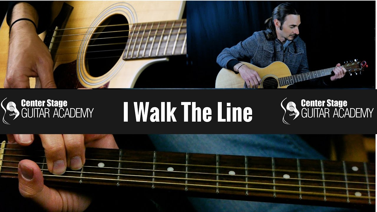 how to play i walk the line by johnny cash guitar lesson youtube. Black Bedroom Furniture Sets. Home Design Ideas