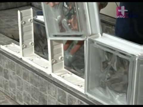 Primera fila de bloques de vidrio vetroCLICK 7 de 14