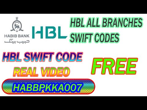 HBL Swift/bic Code List|hbl Swift Code|swift Code Of Hbl Lahore|hbl Pakistan Swift Code