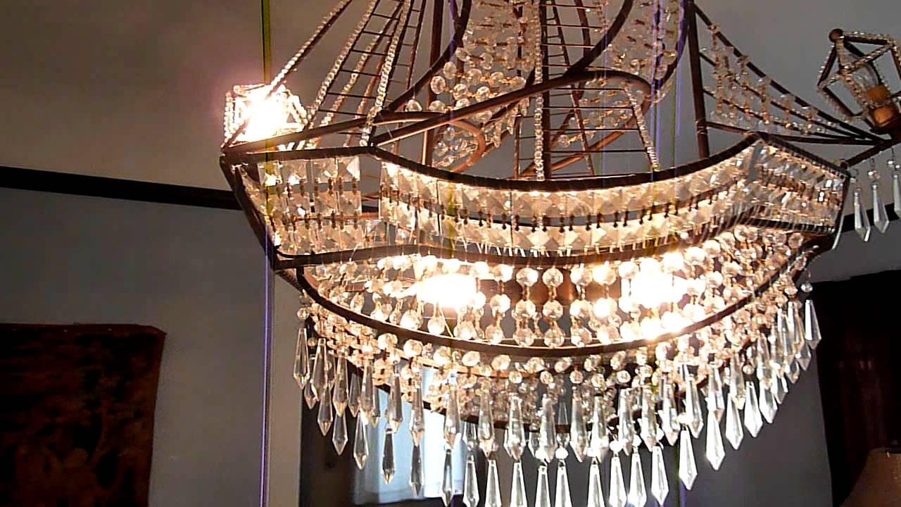 Amazing pirate ship chandelier youtube arubaitofo Choice Image