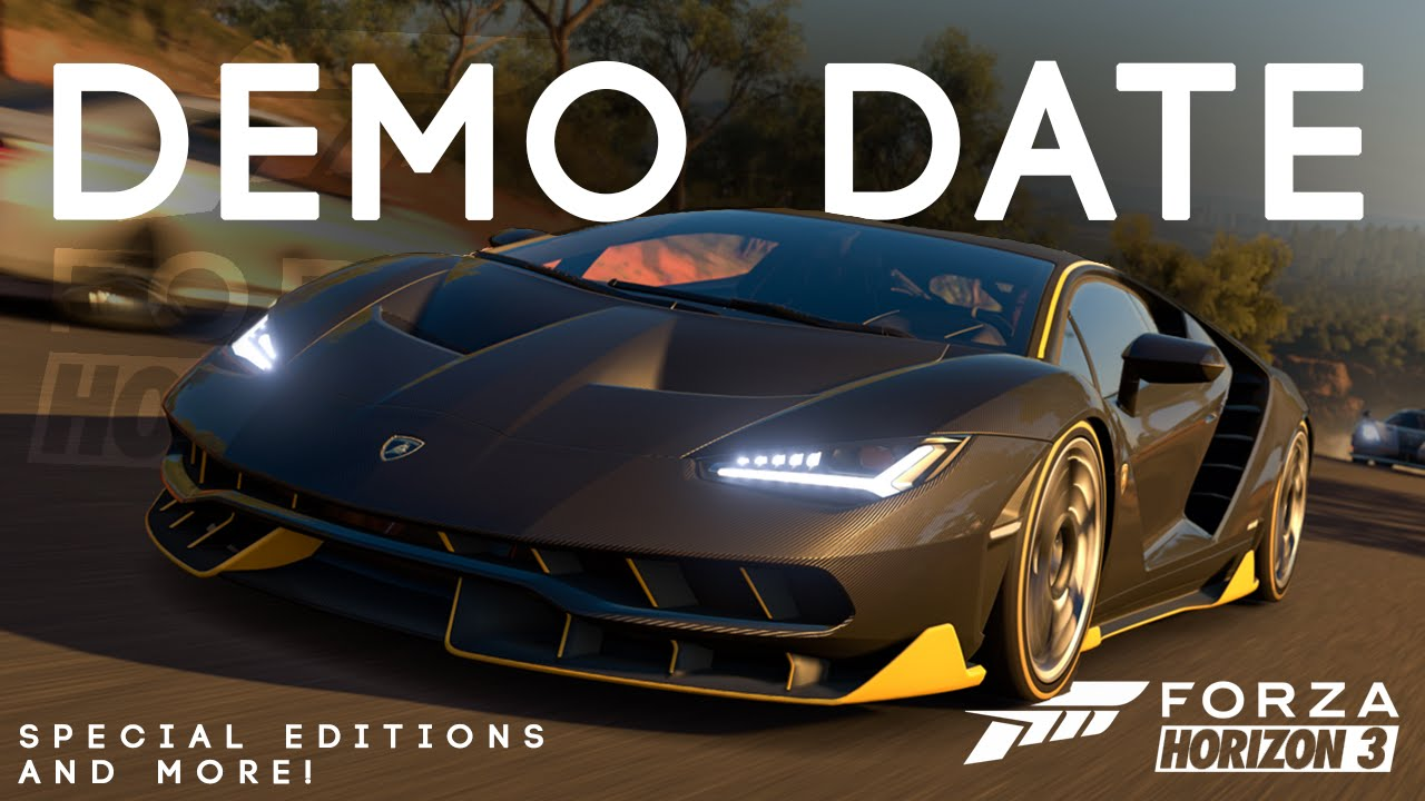 Forza horizon 3 demo date special editions and more blueprint forza horizon 3 demo date special editions and more blueprint events demo leak editions youtube malvernweather Images