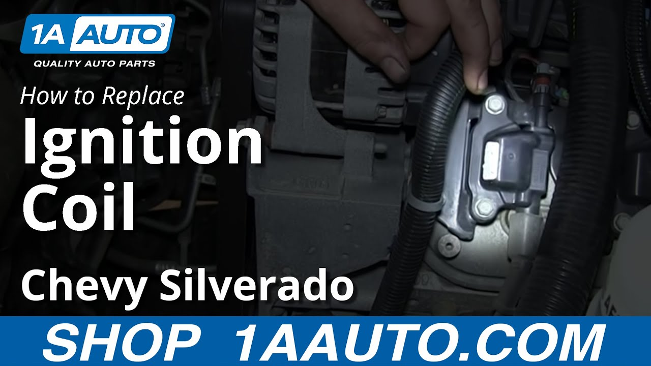 how to install replace engine ignition coil 2007 13 chevy silverado rh youtube com 2010 chevy silverado engine diagram