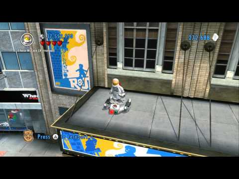 LEGO City Undercover 100% Guide - Bright Lights Plaza (Overworld Area) - All Collectibles