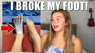 I Broke My Foot! - Whitney Bjerken Gymnastics