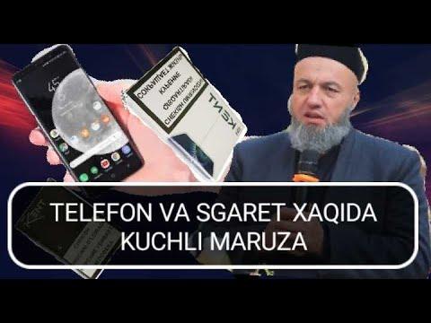 SALOHIDDIN DOMLA TELEFO'N VA SGARET HAQIDA JUDA KUCHLI MARUZA😭