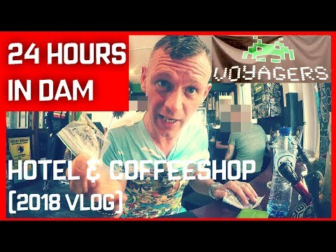 THE AMSTERDAM HOTEL THAT SELLS WEED  (COFFEESHOP VOYAGERS) 24 Hours In DAM (Amsterdam Vlog 2018)