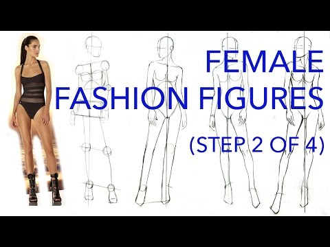 How to Draw Fashion Figures: Step 2 of 4: Fleshing Out the Figure