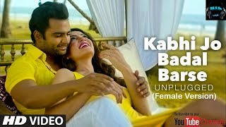 Kabhi Jo Badal Barse - Jackpot Karaoke with lyrics | Hindi Karaoke