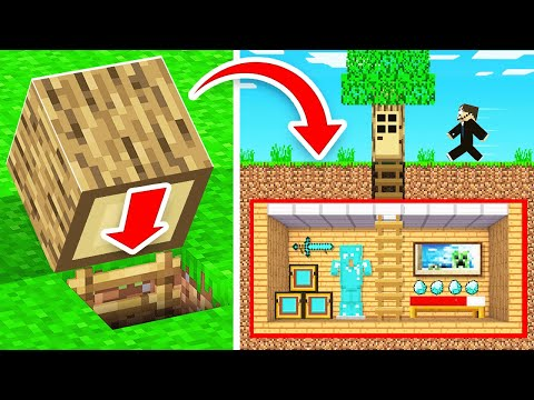 *NEW* SECRET Underground Base In CRAZY CRAFT