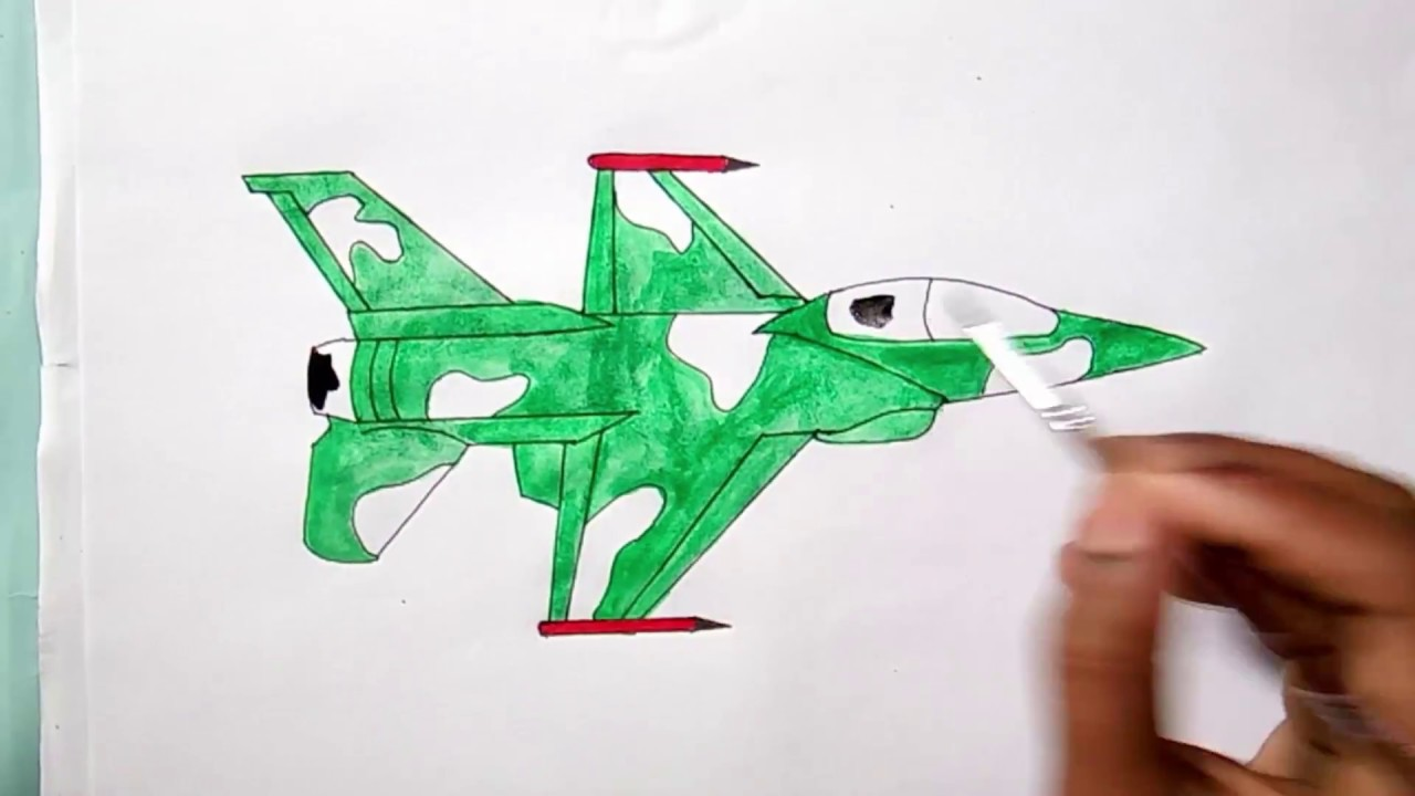 How To Draw A Fighter Jet Easy Youtube