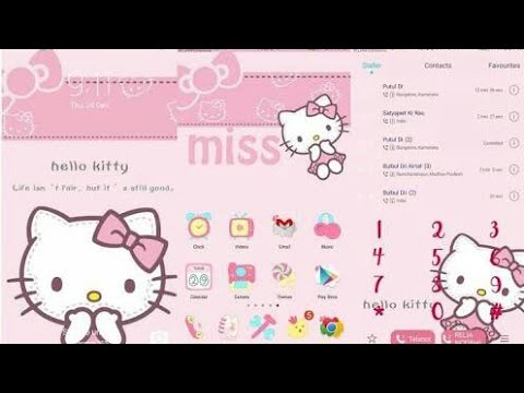 OPPO (ColorOS) Theme : Hello Kitty (Pink) - YouTube