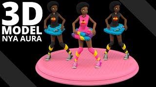 Nya Aura 3D Character Render | Tlatso-Son