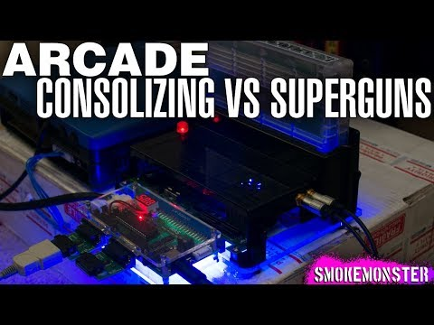 Arcade Consolizing vs Superguns - Arcade Showcase & Vectrex De-Buzz PCB Reveal!