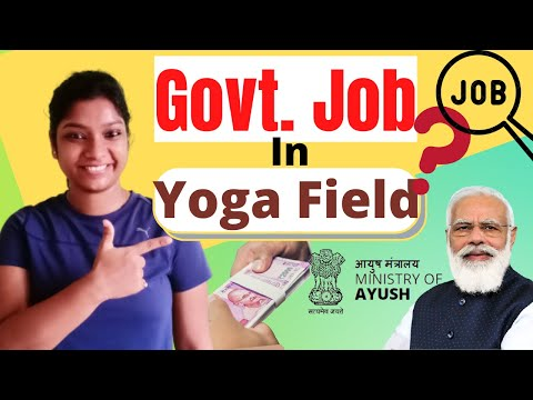 GOVERNMENT JOBS in Yoga Field   Full details    हिंदी में
