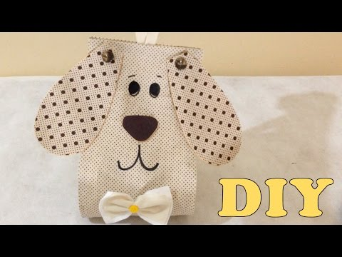 Porta Papel Higiênico de Cachorrinho de Tecido Sem Costura - DIY Artesanato