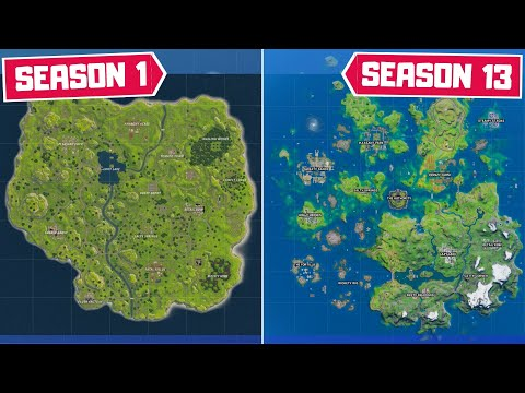 Evolution Of The Entire Fortnite Map! (Chapter 1 Season 1 - Chapter 2 Season 3)