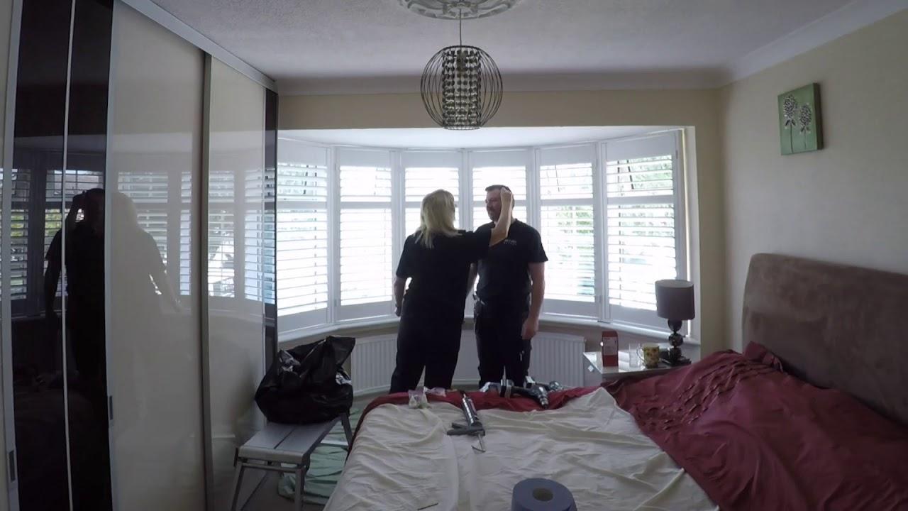 ARTURA BLINDS - PLANTATION SHUTTERS INSTALL BEDROOM - YouTube
