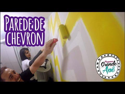 Como fazer uma parede de chevron