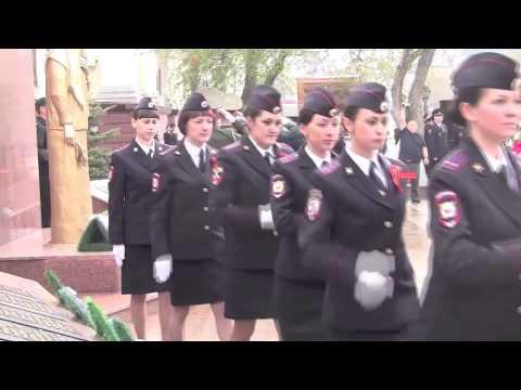 Мемориальная церемония возложения цветов и гирлянд к памятнику Погибшим сотрудникам милиции
