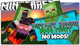 Minecraft | MUTANT ZOMBIE BOSS BATTLE | No Mods (Minecraft Custom Redstone)