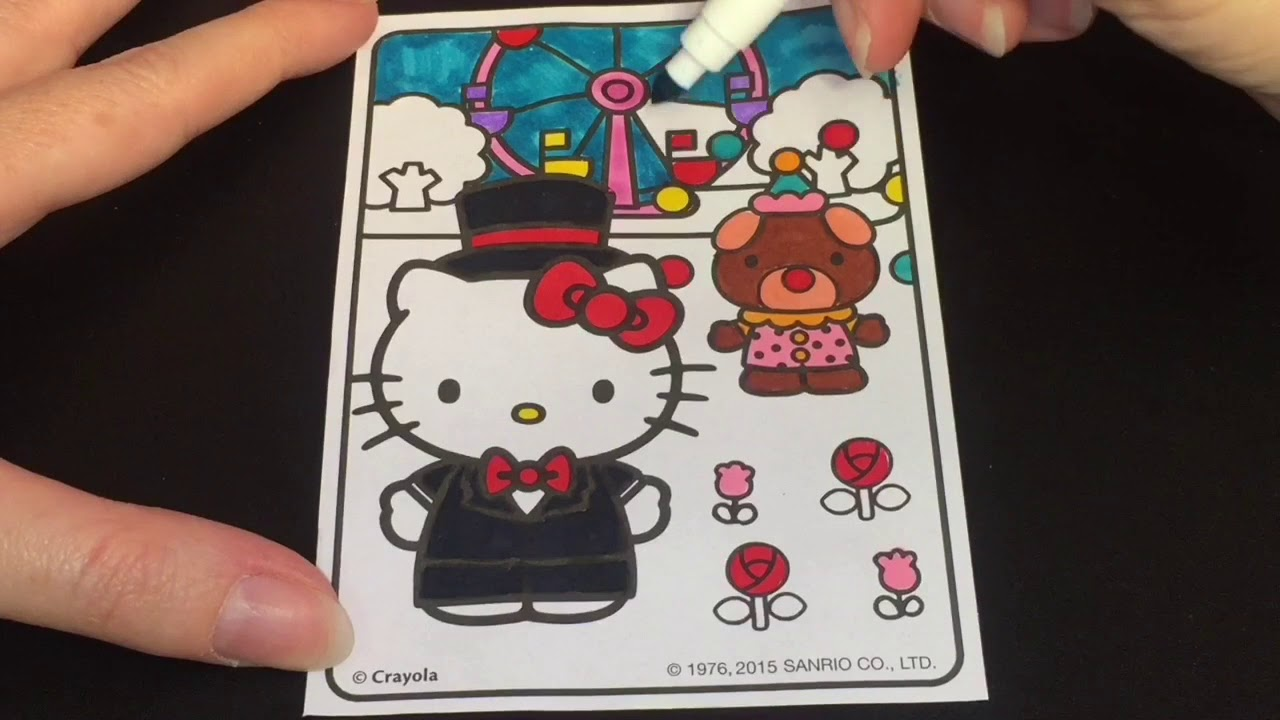 Coloring Time 60 Hello Kitty Circus Sped Up Page With Markers