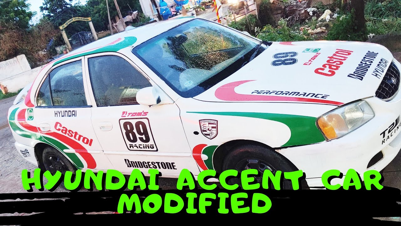 Hyundai accent body modified  stickers