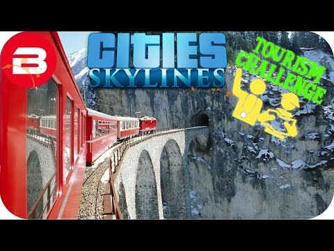Cities Skylines Gameplay - TRAIN LINE THROUGH MOUNTAIN!!! (Cities: Skylines TOURIST Scenario) #7