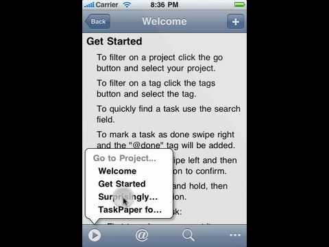 TaskPaper for iOS