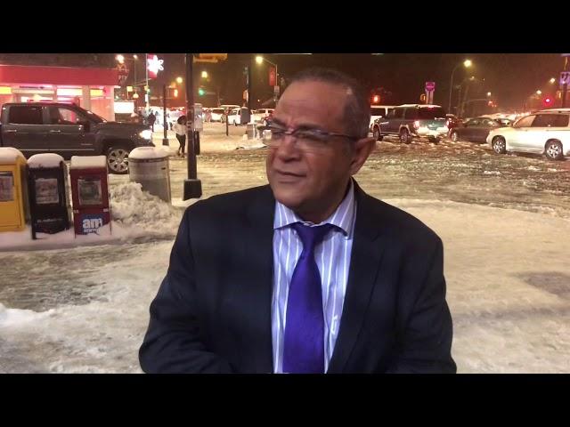 Jaime Vargas habla de la tormenta de Nieve en NY Nov.2018 Caos, accidentes, dominicanos