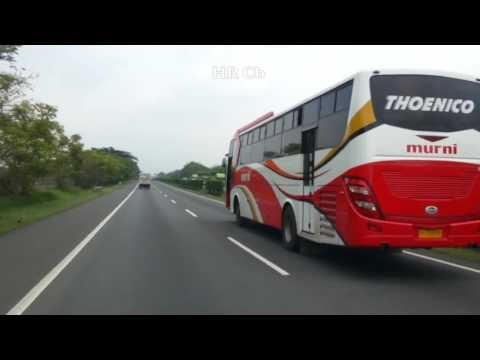 Sangar !! 140/km lari zigzag Bus Murni Labuan ngebut parah di Kragilan