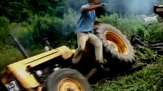 Funny Romanian Tractor Fails | Tractor Crashes 2014