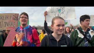 Bronx Science High School students walk out to demand action on climate change, March 15, 2019