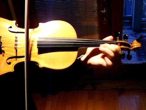 BACH VIOLIN CONCERTO in A MINOR, SOLO Sound Sample, Old German Violin,