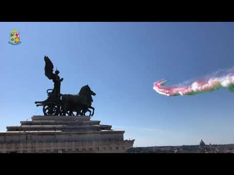 Aeronautica Militare - Sorvolo delle Frecce Tricolori ai tempi del Covid-19