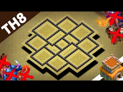 BEST Town Hall 8 (TH8) War Base Layout 2019 | TH8 War Base Design Anti 2 & 3 Stars– Clash Of Clans