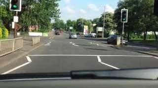 Driving lessons Glasgow: Spiral roundabout, turning right 3rd exit